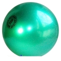 Iluvõimlemis pall Tuloni 16 cm. Colour: Green Glitter